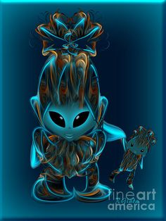 Alien Babygirl and Doll - Art for Kids by Giada Rossi. Fine art prints and posters for sale. Original Artwork, Original Paintings, Sale Poster, Blue Art, Show Photos, Art Styles, Artist At Work, Wall Collage, Art For Sale
