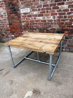 New Reclaimed Sleeper/ Scaffolding Top Custom Table with by RCCLTD