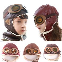 Sealike Pilot Aviator Fleece Cap with Earmuffs
