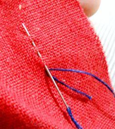 Three basic hand sewing stitches everyone should know: running stitch, running backstitch and backstitch
