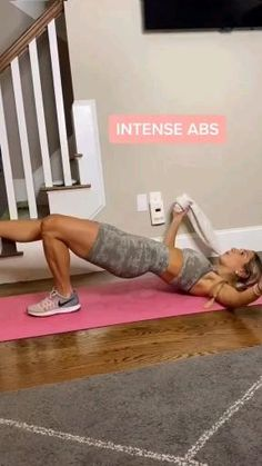 Fitness Workouts, Gym Workout Videos, Gym Workout For Beginners, Fitness Workout For Women, Ab Workout At Home, Butt Workout, Fitness Goals, At Home Workouts, Fitness Motivation