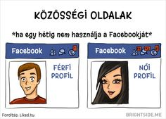 Differences Between Men And Women Boys Vs Girls, Humor Grafico, What Happens When You, Facebook, Men And Women, Social Networks, Best Funny Pictures, Relationship, Shit Happens