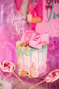 This Colorful JoJo Siwa Sleepover Birthday Party will have any girl jumping for joy. Get ideas for JoJo Siwa decorations, party supplies, favors, and more! Jojo Siwa Birthday Cake, Girly Birthday Cakes, Candy Birthday Cakes, Sleepover Birthday Parties, Birthday Party Decorations, Girl Birthday, Birthday Ideas, Birthday Recipes, Baseball Party