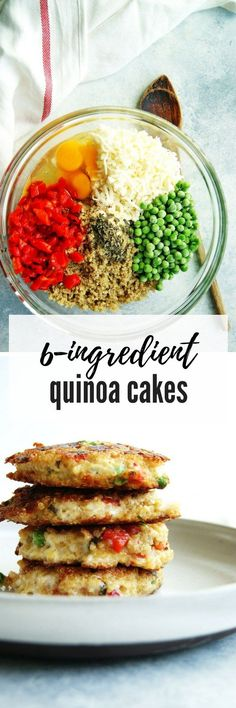 Nutritious little quinoa cakes, perfect for any time of the day. #vegetarian #glutenfree #quinoarecipes Click here for the easy recipe!