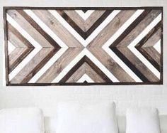 Rustic Wood Decor, Reclaimed Wood Wall Art, Rustic Art, Wood Wall Decor, Wooden Wall Art, Wooden Decor, Diy Wall Art, Art Rustique, Chevron Art