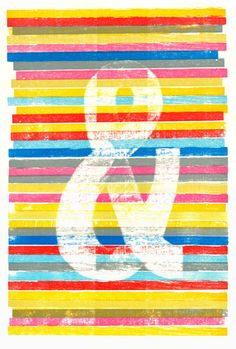 Ampersand letterpress print by The Clearance Sale