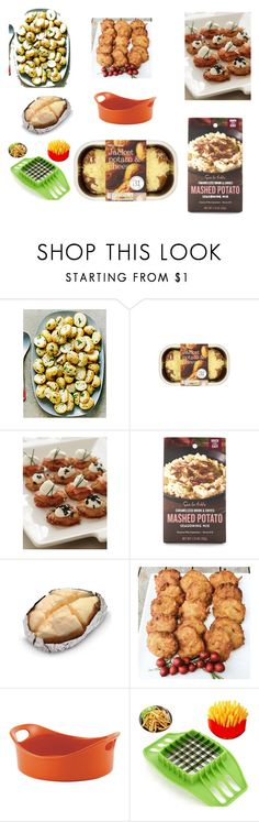 """Hey ...Potatoes!"" by grafic-703 ❤ liked on Polyvore featuring interior, interiors, interior design, home, home decor, interior decorating, Linda's Gourmet Latkes, Sur La Table and Rachael Ray"