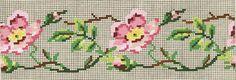 Lepa stara šema. Mini Cross Stitch, Cross Stitch Borders, Cross Stitch Rose, Cross Stitch Flowers, Cross Stitch Charts, Cross Stitch Designs, Cross Stitching, Cross Stitch Embroidery, Embroidery Patterns