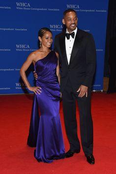 Pin for Later: Quand les Célébrités Rencontrent Barack Obama Jada Pinkett Smith Portant une robe Romona Keveža.