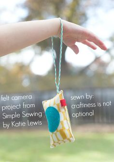 felt camera project from simple sewing sewn by craftiness is not optional