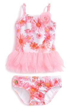 Kate Mack 'Dottie Daisy' Two-Piece Swimsuit (Baby Girls)