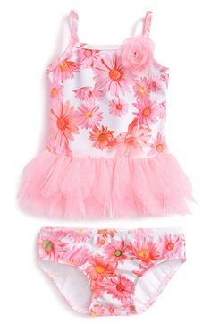 Kate Mack 'Dottie Daisy' Two-Piece Swimsuit (Baby Girls)