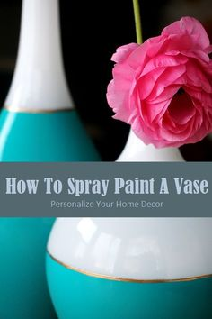 Give some character and glam to old vases in this How To Spray Paint A Vase tutorial. www.lovelyimperfection.com