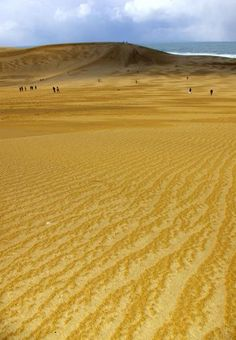 Tottori sand dune, Japan. A breathtaking, beautiful natural land formation, created by sand and winds over the last 100,000 years.