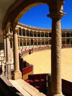 Ronda plaza de toros Spain.  Many years ago, I went to one bullfight, but I couldn't sit through it.  I like to see the history, but I sure don't want to actually see it.