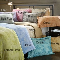 Horizons Printed 3-piece Duvet Set-  sheet sets and blankets,  have used for 2 plus years , still soft and new. Excellent quality and beautiful colors!!