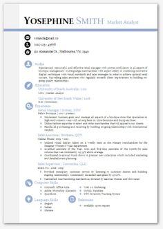 Modern Microsoft Word Resume Template Yosephine by Inkpower, $12.00