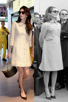 The Coatdress: Jackie and Amal, fifty years apart! Classic look!