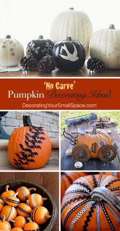 'No Carve' Pumpkin Decorating Ideas!