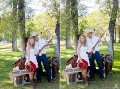 "western-themed photo booth, this would be great to go with our Fall ""Hoe Down""."
