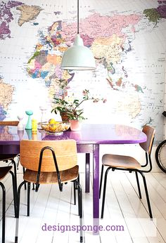 Decorating with Maps from DesignSponge