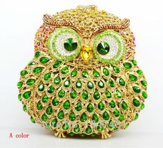 Animal braccialini Owl handmade prom Clutch evening bags