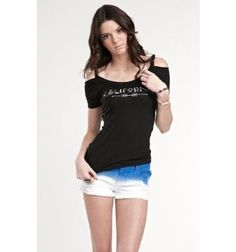 Kendall & Kylie Womens Cold Shoulder Tee PacSun. $26.50