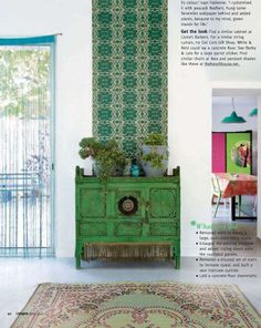 I like the wallpaper behind the sideboard.  Nice visual interest.