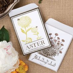 downloadable seed packets, package your seeds and date to share with friends and family.