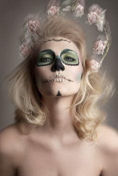 Sugar Skull Halloween Makeup | Erica\'s DIY Work: Sugar Skull face ...