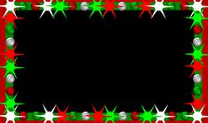 Blinking Christmas Light Border HTML | ... Art III - Customized TPIR flashing lights borders for the holidays