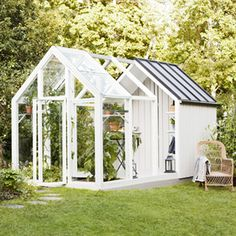 The Garden Shed from Kekkilä offers a nice place to store your garden . - The Garden Shed from Kekkilä offers a nice place to store your garden items or as a greenhouse for - Garden Buildings, Garden Structures, Shed Design, Garden Design, Dream Garden, Home And Garden, Greenhouse Gardening, Greenhouse Shed Combo, Gardening Tips