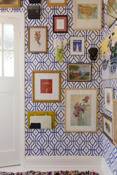 Love the picture wall and the wallpaper.  Main hallway?QUICK CHANGES- 5 Simple steps to update your home.