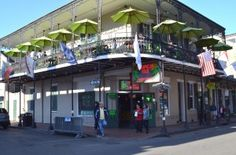 """(Drinking) Tropical Isle- on the corner of Bourbon and Orleans... famous for Hand Grenades and """"Shark Attack"""" drinks..."""