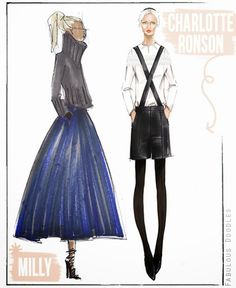 Designer Sketches for NYFW Fall 2014 {Part 2}