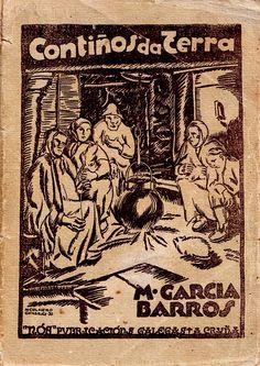 Tipografia Galega - Manuel García Barros -Contiños da terra, cuberta por Manuel Colmeiro, 1931