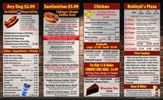 Menu — BobbyG's Chicago Eatery