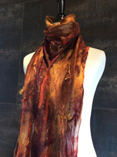Texture Copper & Burgundy Exquisite Hand-dyed Silk by CasualLuxe