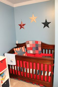 Red White and Blue Baby Nursery  Patriotic Theme
