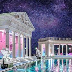 vaporwave pixel I think King Neptune wo - vaporwave Aesthetic Space, Purple Aesthetic, Aesthetic Light, Vaporwave Wallpaper, New Retro Wave, Cyberpunk Aesthetic, Vaporwave Art, Fantasy Landscape, Retro Futurism
