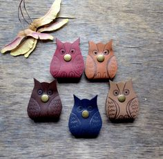 Cord holder owl earbud holder leather cable gift от jewelryleather