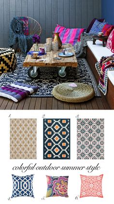 Outdoor Summer Decorating with Moroccan Style Rugs | Trend Center by Rugs Direct