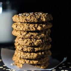 Gluten Free Cookie Recipes, Gluten Free Cookies, Low Carb Recipes, Healthy Sweets, Healthy Snacks, Healthy Oatmeal Cookies, Good Food, Yummy Food, Sweet Bakery