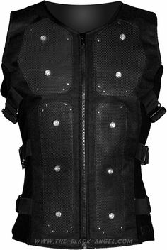 Gothic cyber bodice by Raven SDL, with rubber padding and ornate with rivets and bolts.