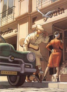 Glamour City // interesting... tintin as a mobster? (or violinist?)
