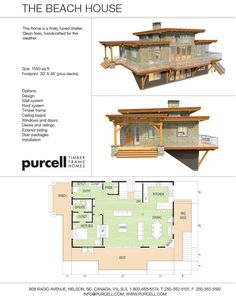 Purcell Timber Frames - Home Packages - The Beach House