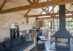 Landelijke veranda in hout.