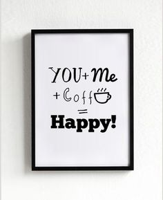 cofee prints posters typography art Home wall decor by mottosprint