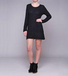 Vestido tricot angora preto- The Outlet | Moda Feminina