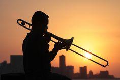trombone sunset